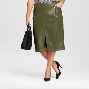 NEW Who What Wear Faux Leather Pencil Skirt